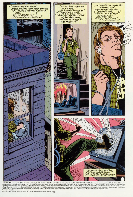Read online Animal Man (1988) comic -  Issue #74 - 2