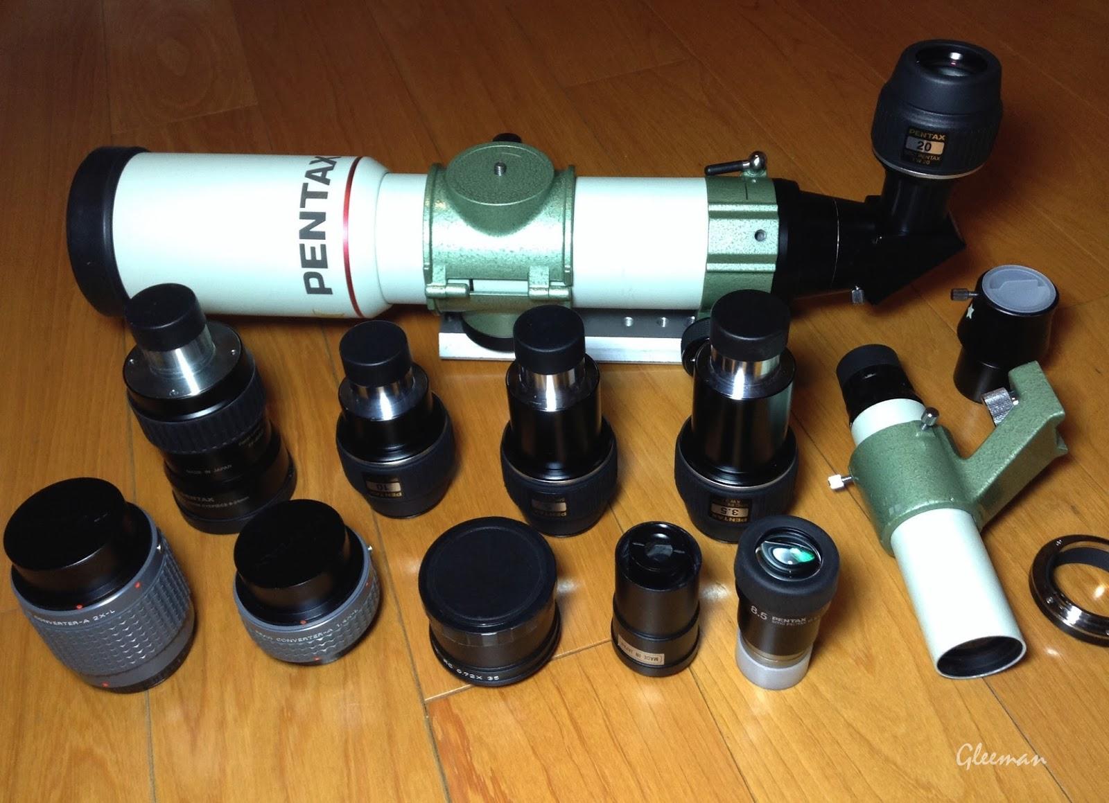 Pentax 75SDHF 及Pentax 目鏡、配件