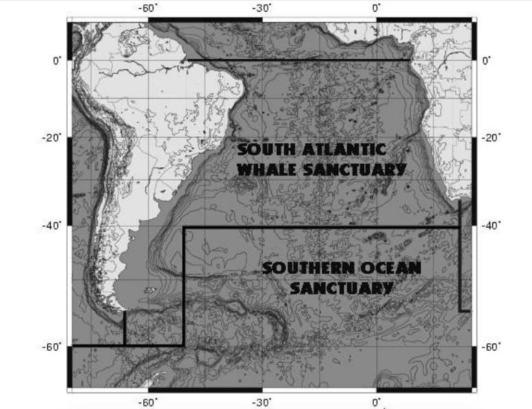 Santuário para baleias no Atlântico Sul