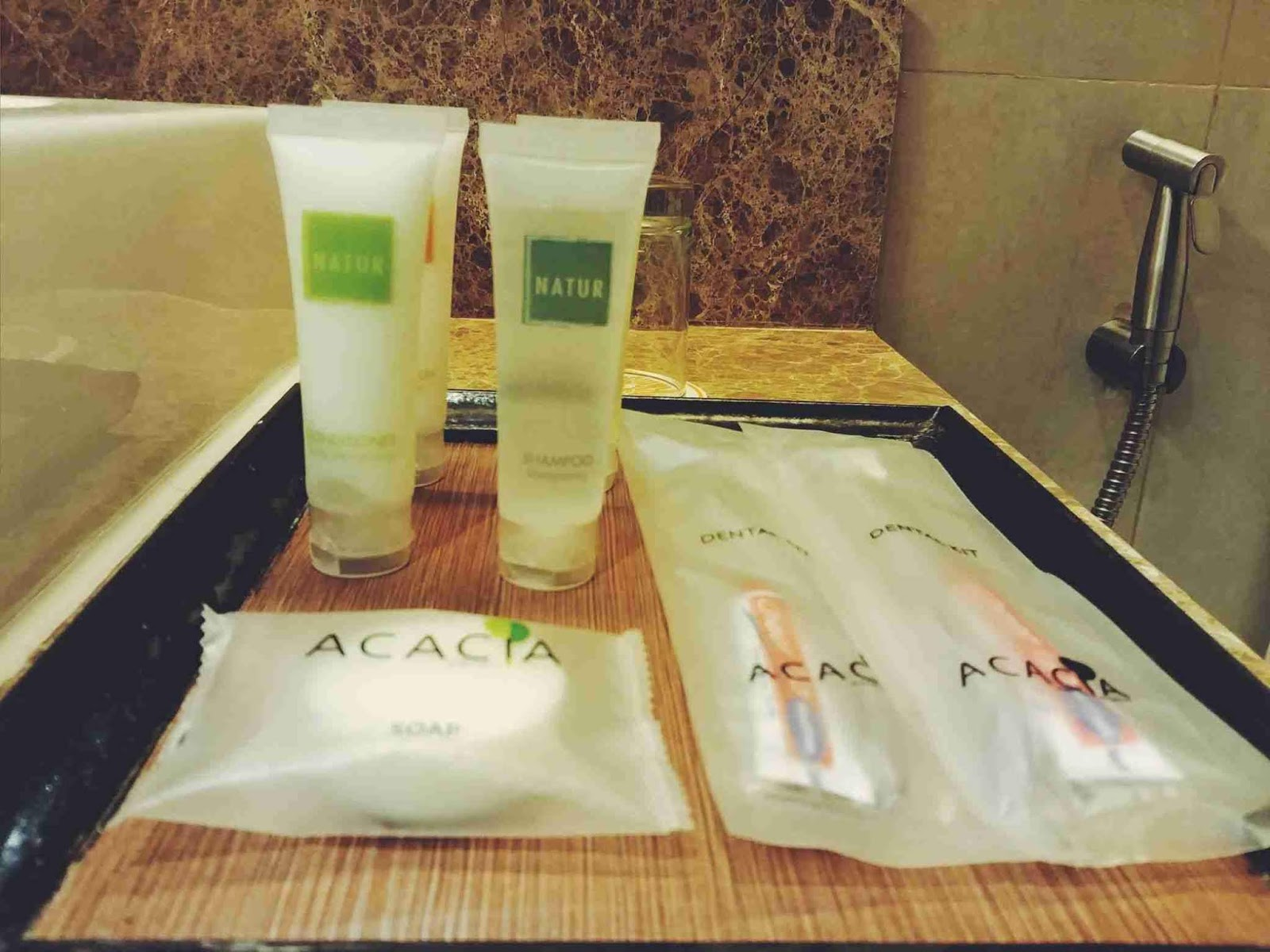 Natur toiletries at Acacia Hotel