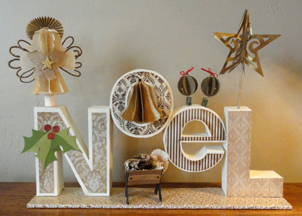 Image De Noel 3d.Needles N Knowledge Noel 3d Letter Box Ensemble
