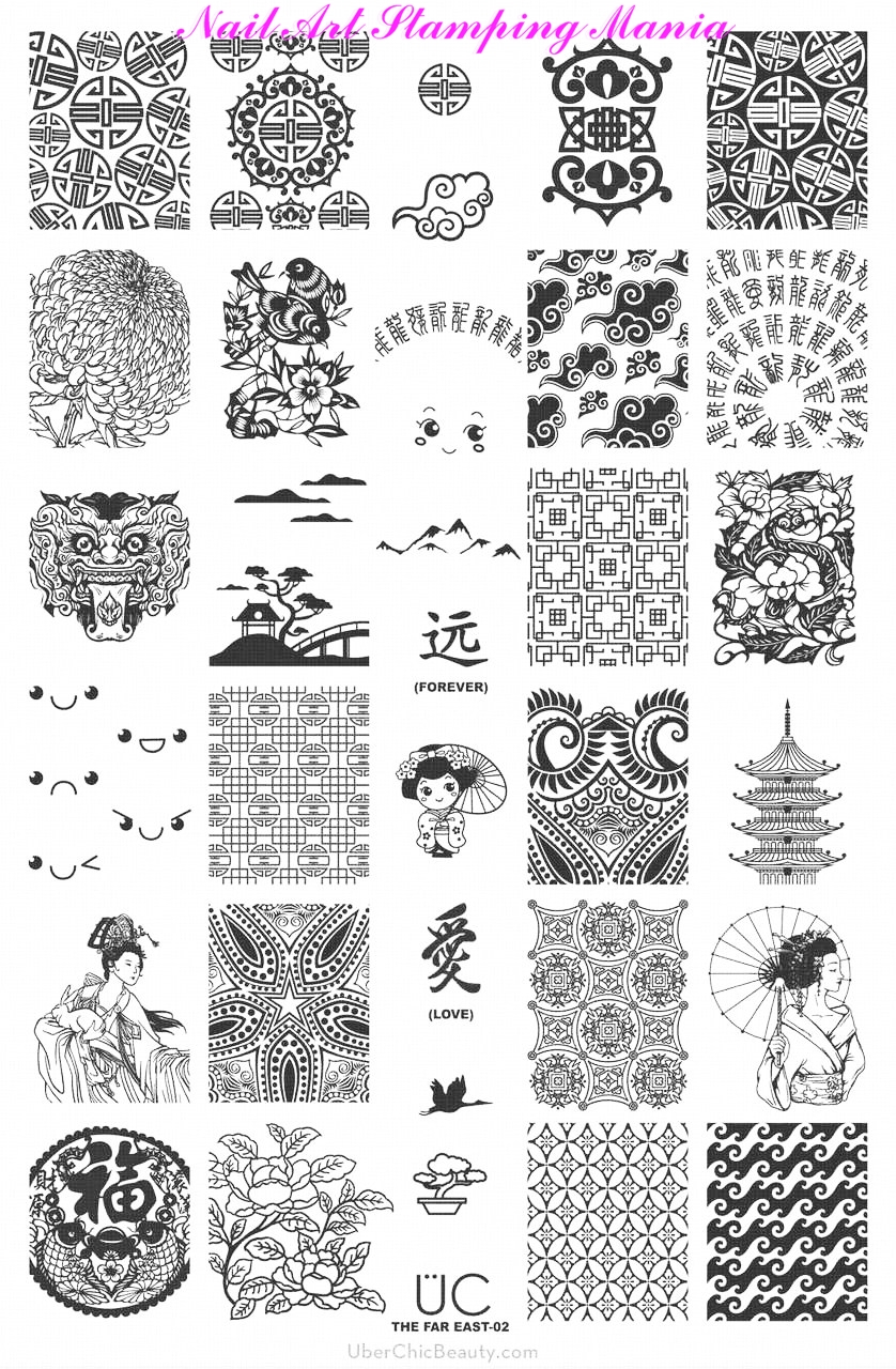 Nail Art Stamping Mania: UberChic Beauty The Far East 02 Nail ...