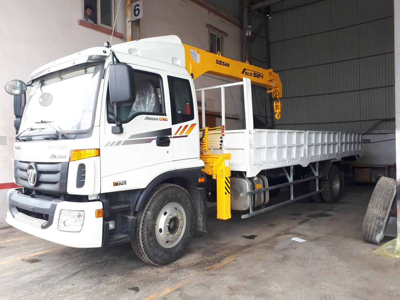 Xe tải cẩu Thaco Auman C160 tại Hải Phòng