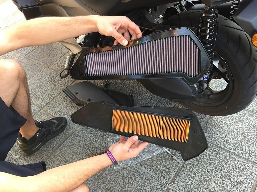 filtro de aire yamaha x max