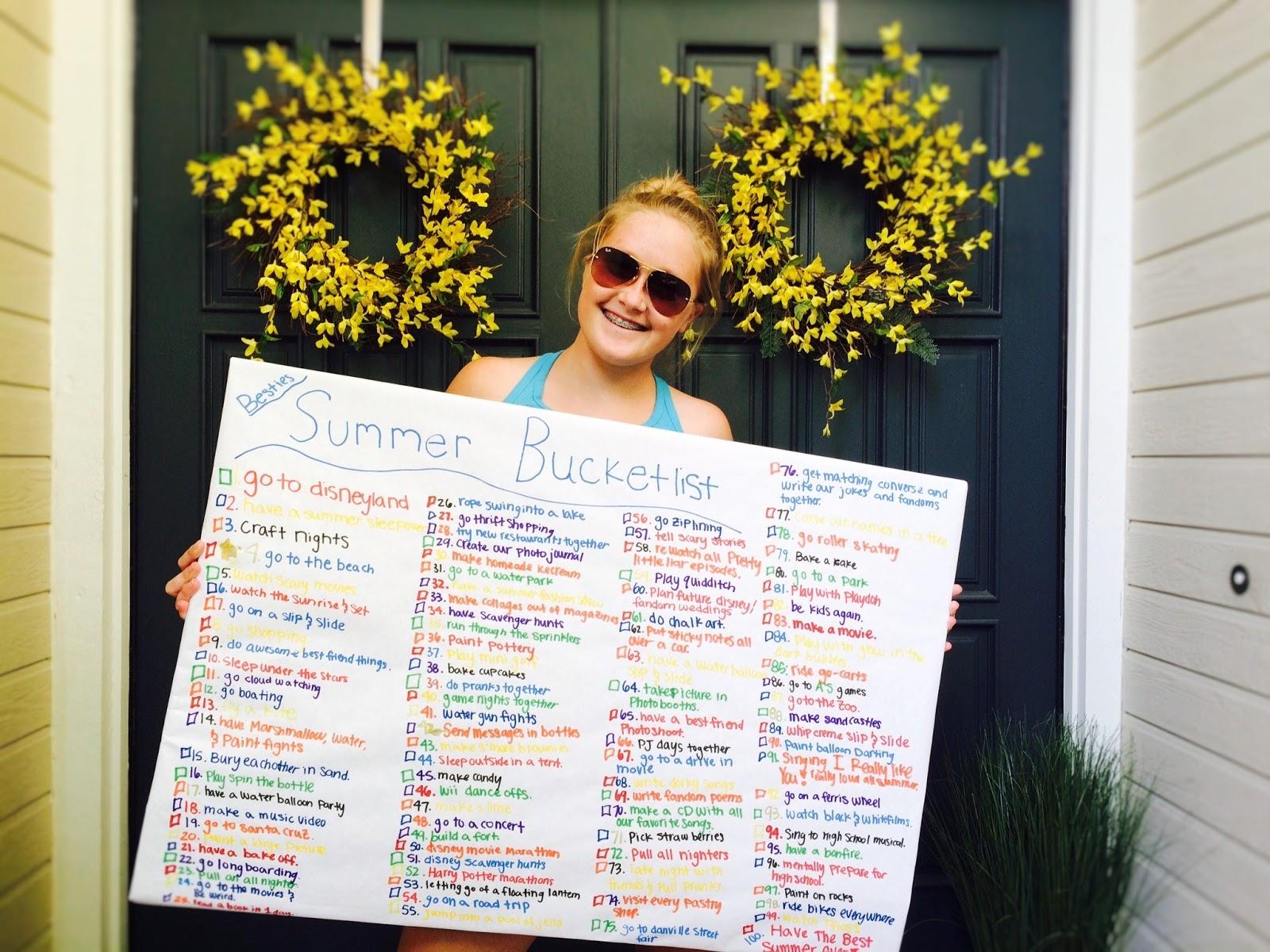 Summer bucket list with best friend