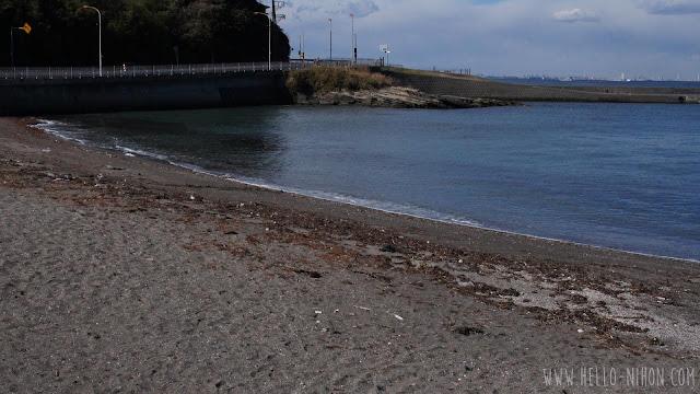 Beach at Kannonzaki lighthouse