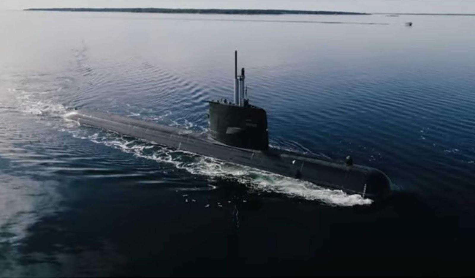 Kapal selam Gotland modernisasi sendang melakukan uji laut