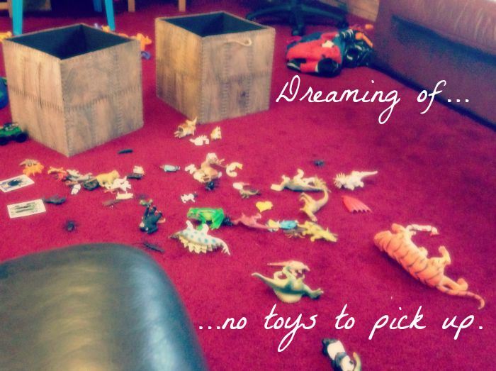 Dreaming of Retirement | Morgan's Milieu: Carpet filled with toys