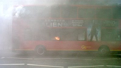 London bus burning, #1