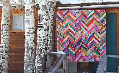 Quilt as you go Herringbone Quilt