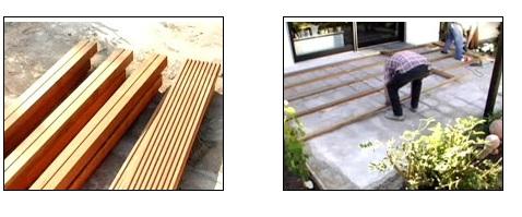 cara memasang decking kayu