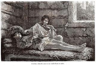 O índio Almeida morto e a velha Rosa, sua mãe.