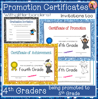 4th-Grade Certificates End-of-Year