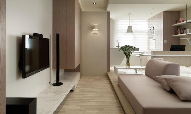 Namanya juga apartemen.  Umumnya spacenya terbatas.  Karenanya jika tak pintar-pintar mendekorasi, apartemen sempit bakal semakin sumpek.  Nah, tips ini bisa anda coba agar apartemen sempit tampak luas.