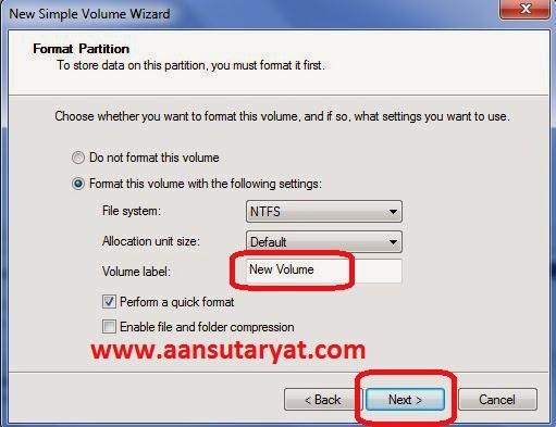 Trik Membuat Partisi Harddisk Baru Windows 7