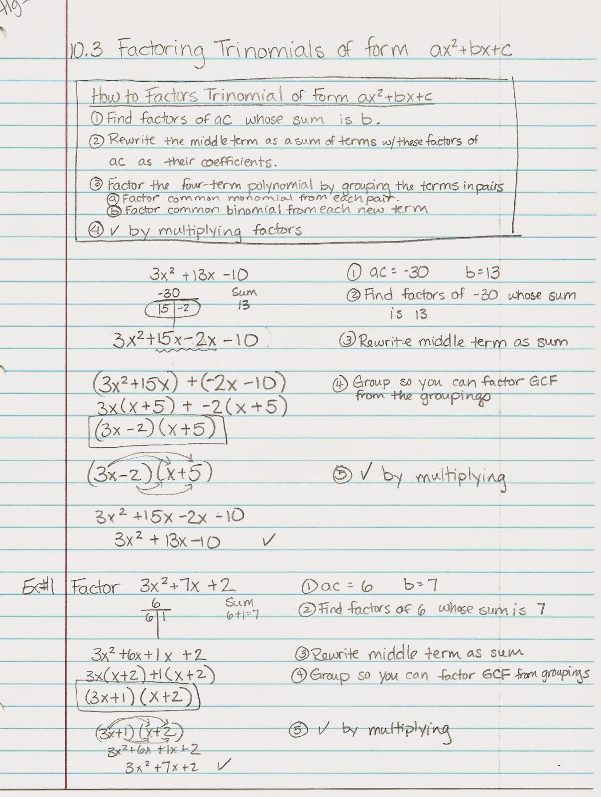 Algebra Alerts Algebra 1 And 2 Algebra 1 Lesson 10 3