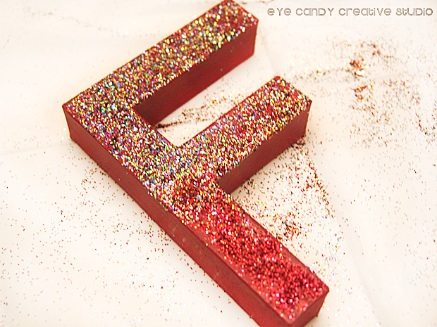 using glitter, fall letters, fall word art letters, glitter letters, how to glitter letters