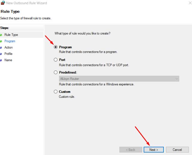 Cara Memblokir Akses Internet Aplikasi Windows 10 Tanpa Aplikasi Pihak Ketiga 8