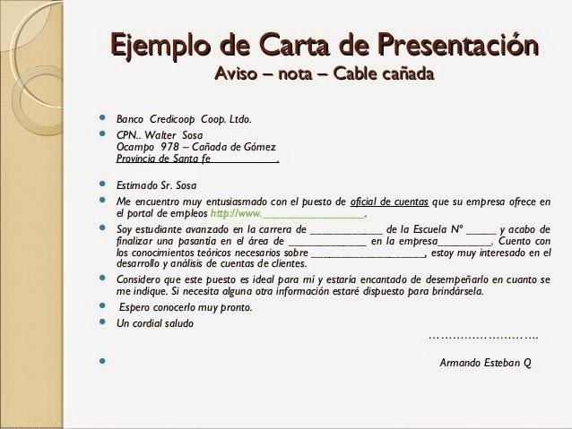 RECURSOS HUMANOS Modelos De CARTAS DE PRESENTACI N