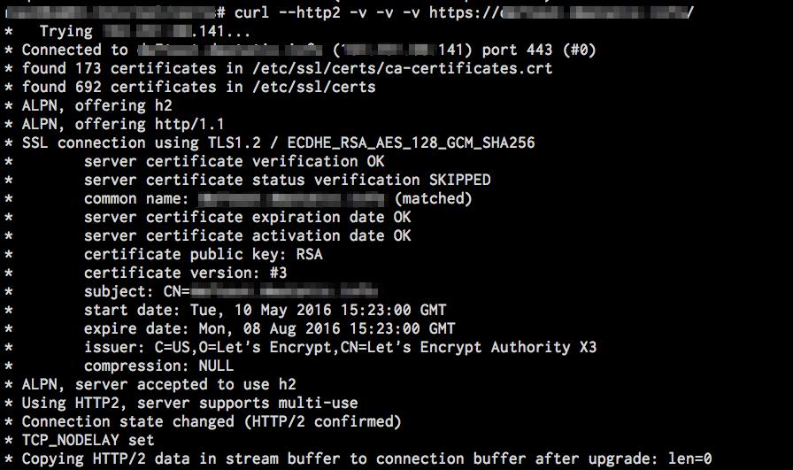 IT 日誌: 解開成就nginx + letsencrypt + HTTP/2