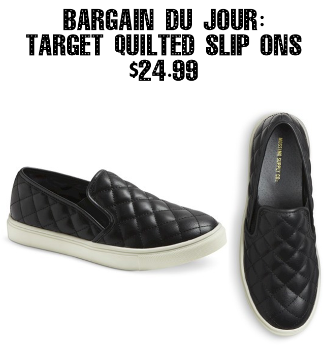 Bargain Du Jour Chanel Like Quilted Slip Ons From Target