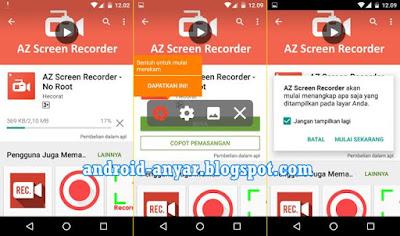 Aplikasi Perekam Layar Android Screen Recorder Terbaik Tanpa Root dan KitKat Root