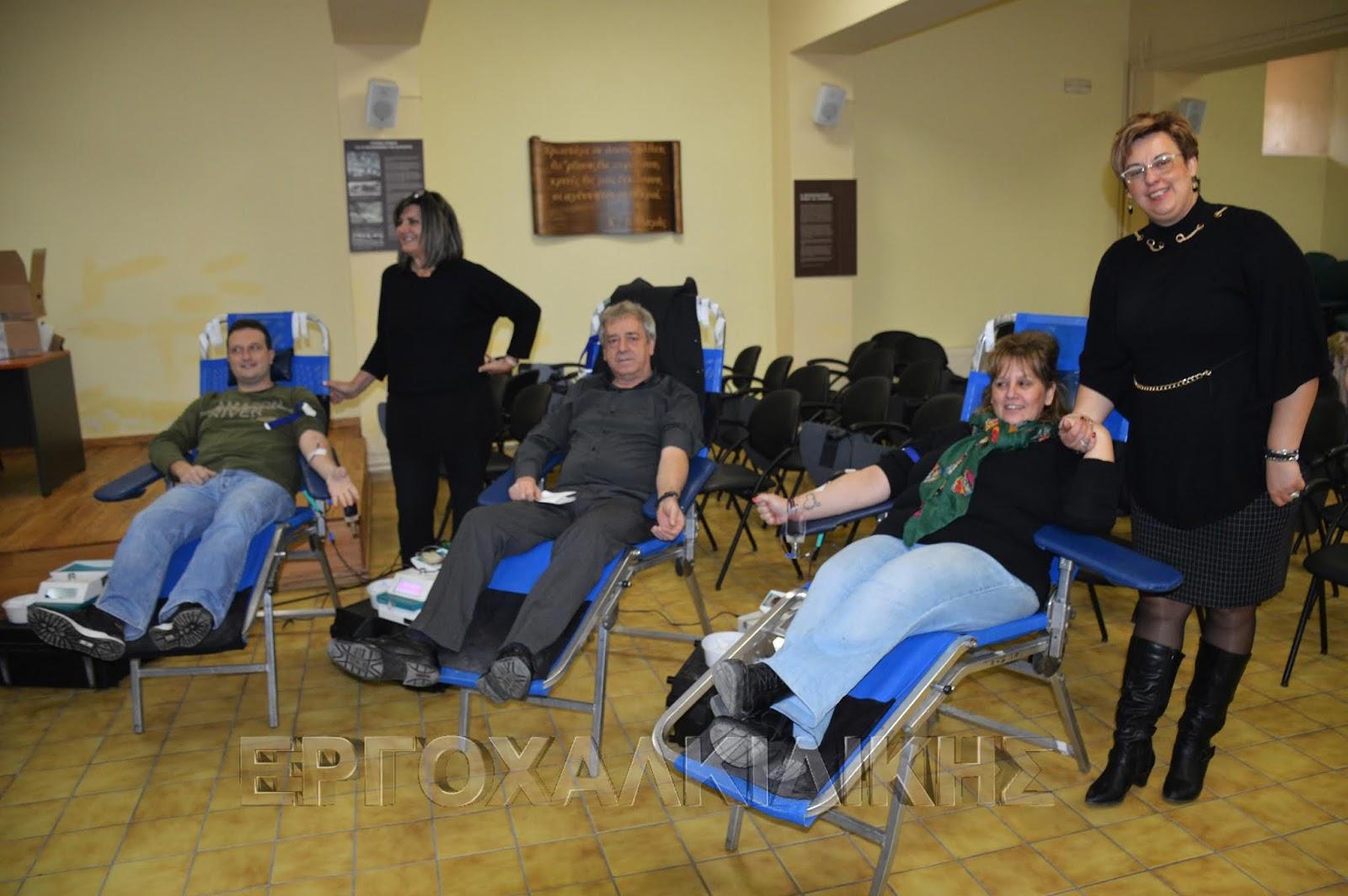 Με επιτυχία η 6η Εθελοντική Αιμοδοσία στην Αρναία (φώτο βίντεο)