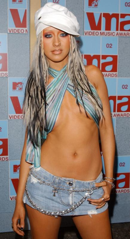 Christina Aguilera braless Photos