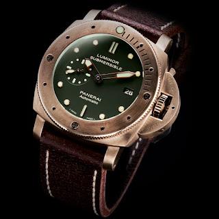 History of Bronze and watches article PANERAI%2BLuinor%2B1950%2BSubmersible%2BBRONZO%2BPAM00382