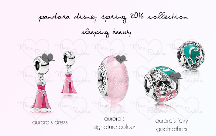Sleeping Beauty Dress Pandora Charm