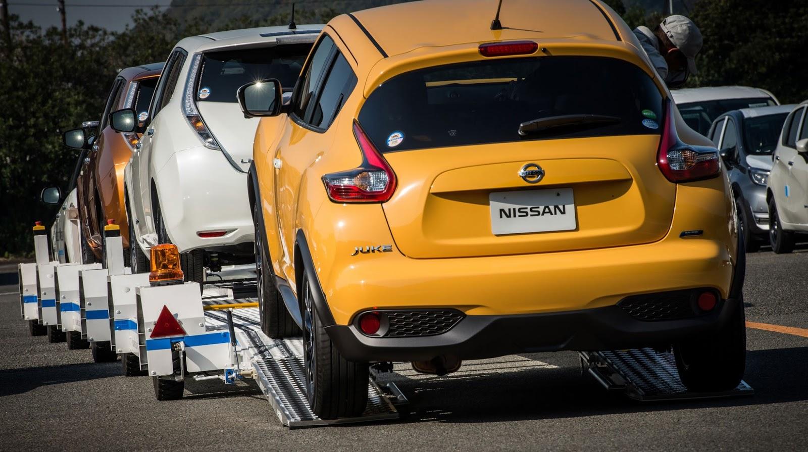 Αυτόνομο σύστημα ρυμούλκησης  οχημάτων σε εργοστάσιο της  Nissan