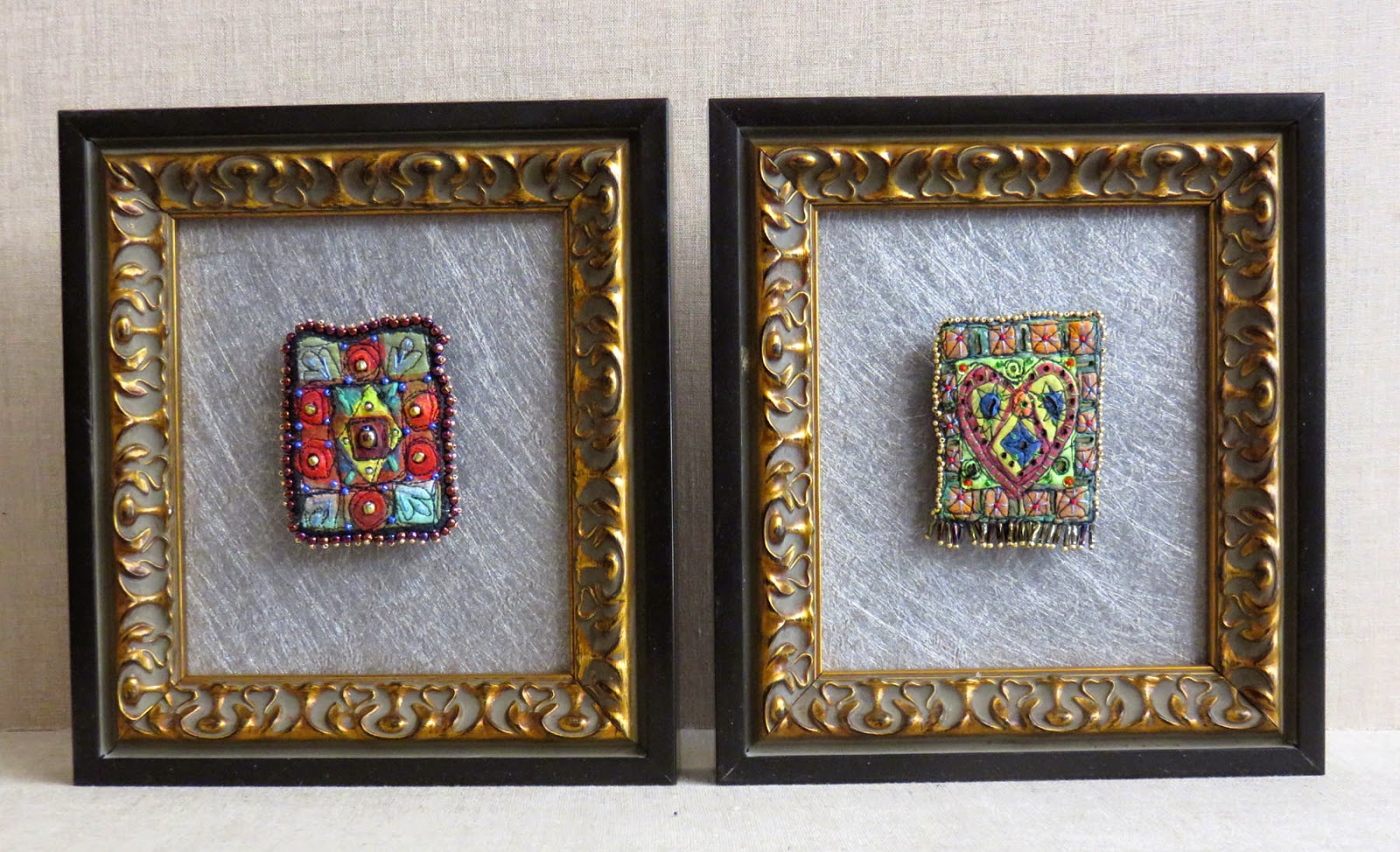 Art In Stitches Framed Brooches And Last Push Toward Acc