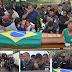 A dor de ver o colega de farda dentro de um caixão; PM morto é enterrado em Queimados