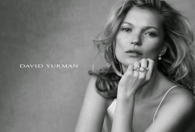 Kate Moss poses for David Yurman's Spring/Summer 2015 Campaign