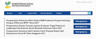 Pengumuman PKH 2017