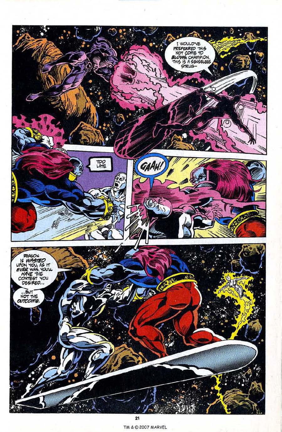 Read online Silver Surfer (1987) comic -  Issue #98 - 23