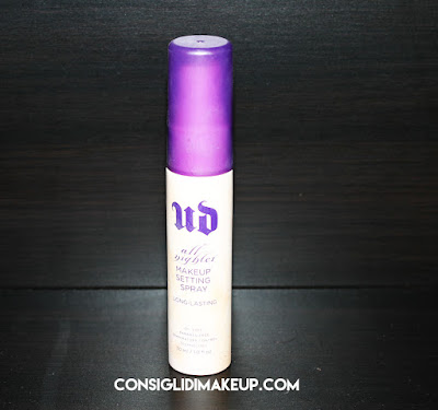 opinioni spray fissante make up urban decay all nighter