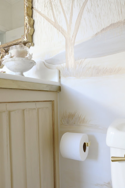 Perfect I wanted understated elegance when looking for a toilet paper holder This simple brass holder achieves that I think Not taking away from the overall