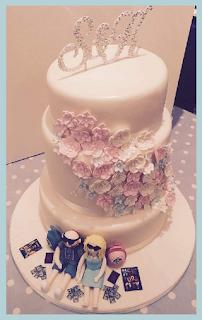 Beautiful rhinestone wedding cake toppers