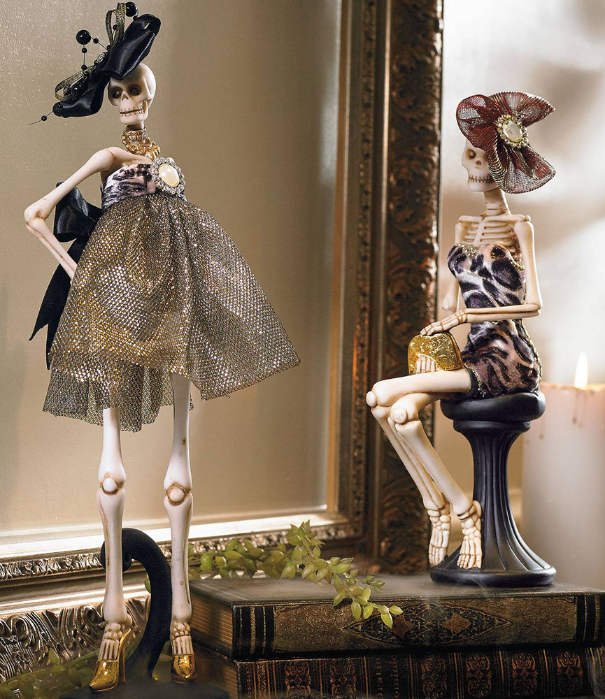 Grandin Road Fashionista Skeletons (set of 2)