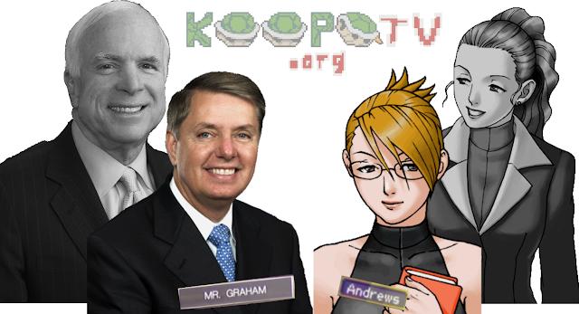Lindsey Graham Adrian Andrews John McCain Celeste Inpax mentor student relationship Ace Attorney United States Senate