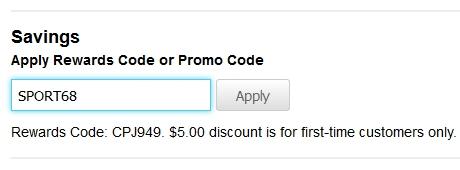 15% lisäalennuksen saa kun kirjoittaa ostoskoriin alennuskoodin SPORT68