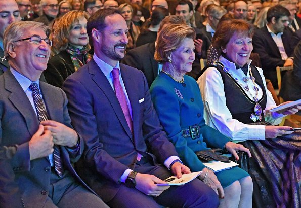 Queen Sonja and Crown Prince Haakon attended the opening of Oslo European Green Capital 2019 at Oslo City Hall
