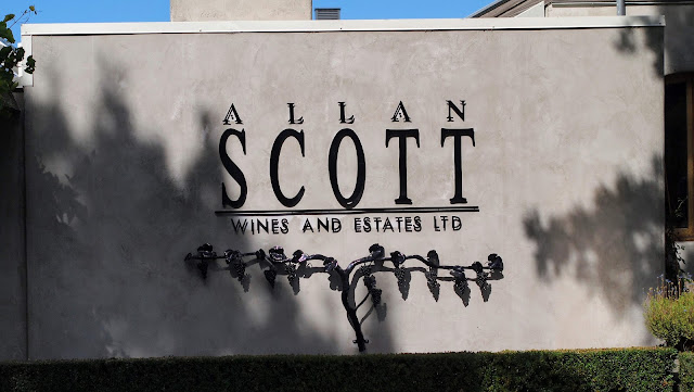Blenheim wineries: Allan Scott winery sign