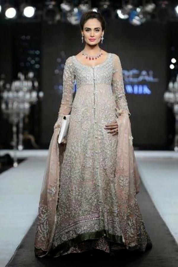 8037effc279 Pak-Indian Full Sleeve Wedding Dresses 2014 for Married Girls - Yoga ...