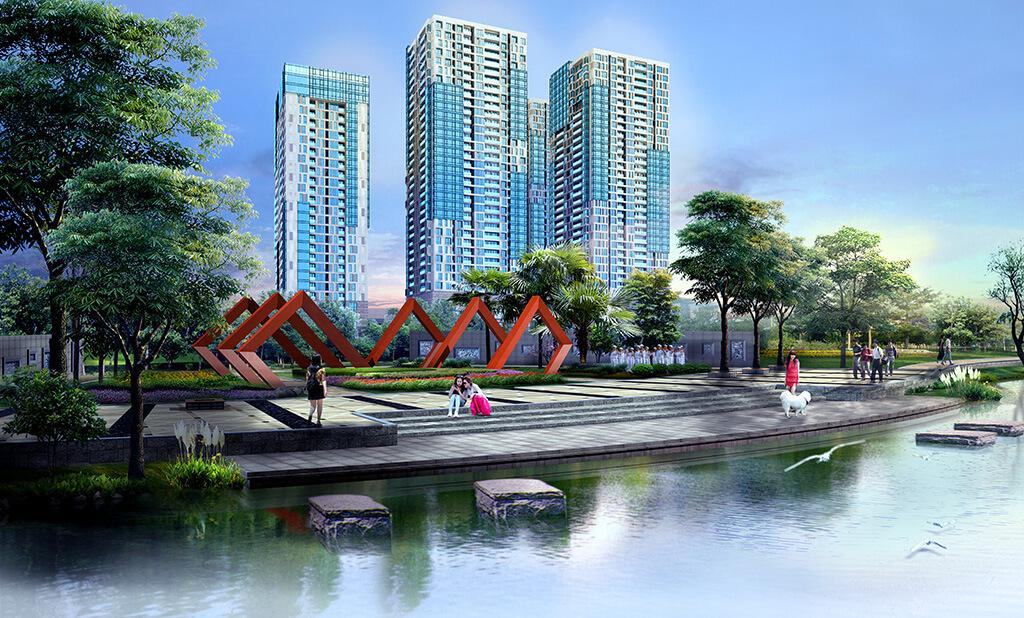 Phối cảnh dự án khu đô thị Gold đài tư long biên của TNR holdings