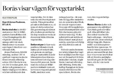 Borås är på väg bort från köttnormen