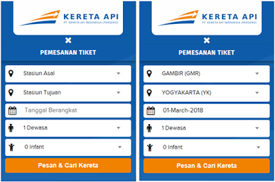 Pengisian Form Pemesanan Tiket