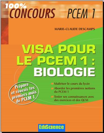 Livre : Visa pour le PCEM 1 - biologie