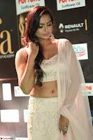 Prajna Actress in backless Cream Choli and transparent saree at IIFA Utsavam Awards 2017 0057.JPG